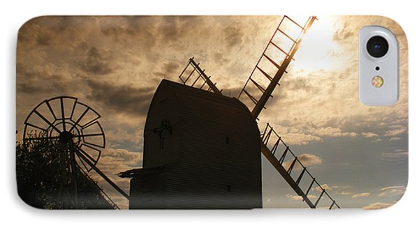 Windmill At Dusk  Phone Case by Pixel Chimp