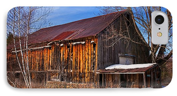 Winter Barn - Chatham New Hampshire Phone Case by Thomas Schoeller