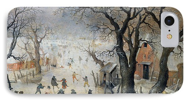 Winter Scene IPhone Case by Hendrik Avercamp