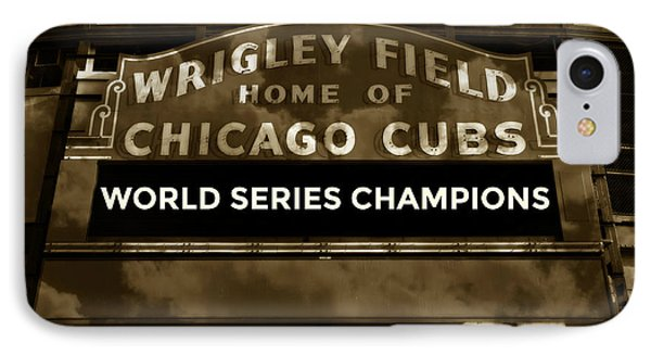 Wrigley Field Sign - Vintage IPhone Case by Stephen Stookey
