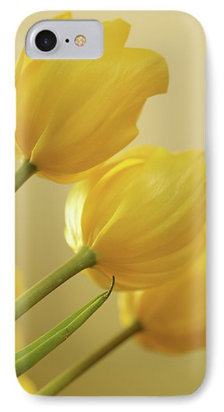 Yellow Tulip Trio Phone Case by Bonnie Bruno