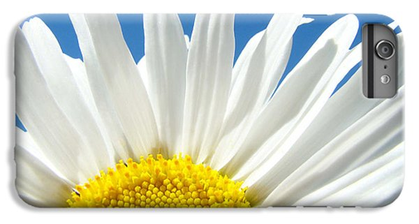Daisy iPhone 7 Plus Case - Daisy Art Prints White Daisies Flowers Blue Sky by Baslee Troutman