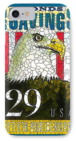 Bald Eagle With Flag IPhone Case