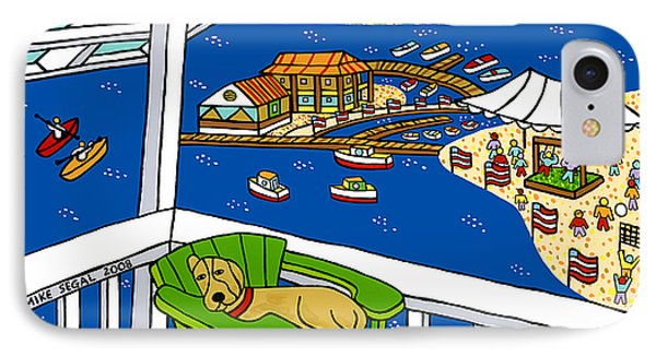 July 4th Snoozer - Cedar Key IPhone Case