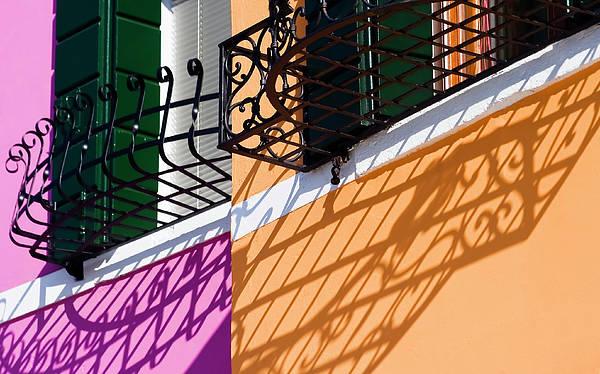 Burano Houses Poster