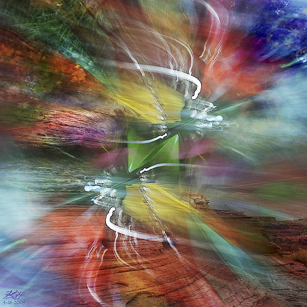 Whirlwind Digital Art - April 18 2009 No 1 by Kenneth Hadlock