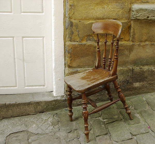 Photograph - Chair And The Door by Cliff Norton