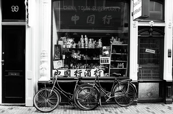 Photograph - Chinatown Bikes by John Rizzuto