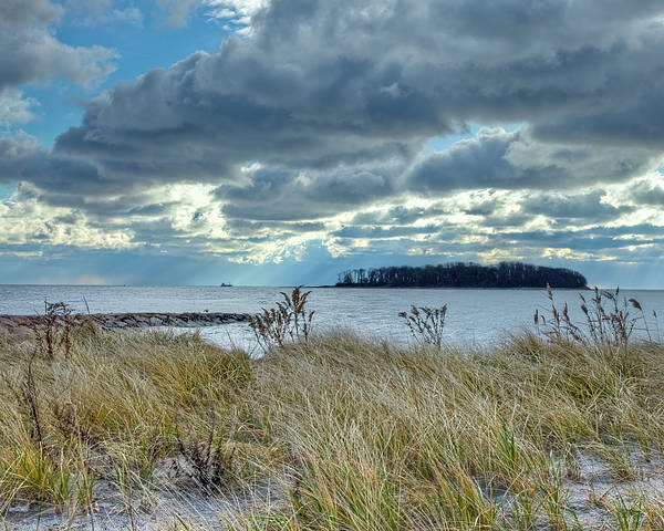 Milford Photograph - Dramatic Clouds Over Charles Island by John Supan