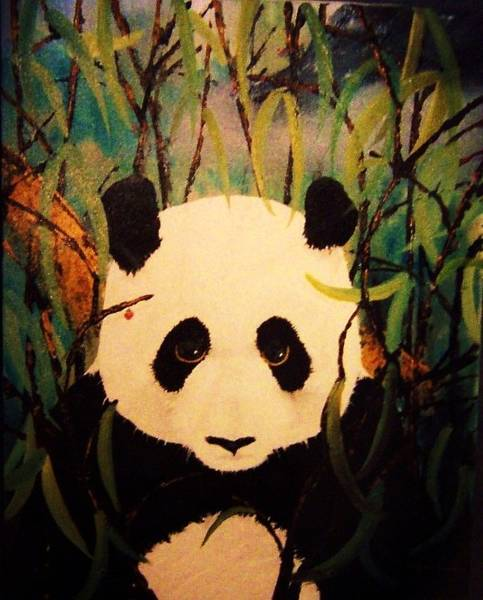 Painting - Endangered Panda by Deahn      Benware
