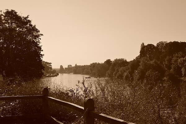 Stye Photograph - Summer View Of The River Thames by Helen Esdaile