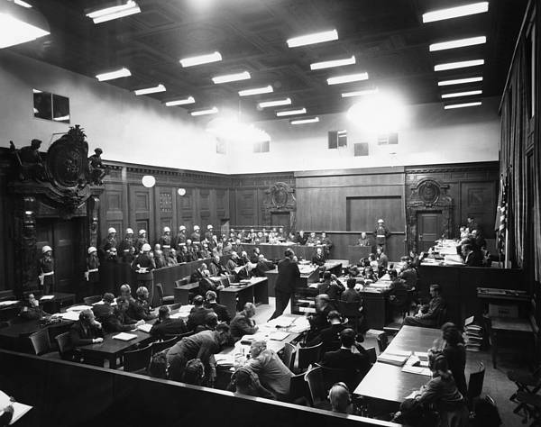 Holocaust Photograph - The Nuremberg Trials. The Palace by Everett