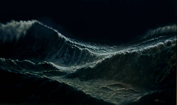 Wall Art - Painting - Waves by Marcel Franquelin
