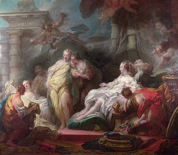 Wall Art - Painting - Psyche Showing Her Sisters Her Gifts From Cupid by Jean-Honore Fragonard