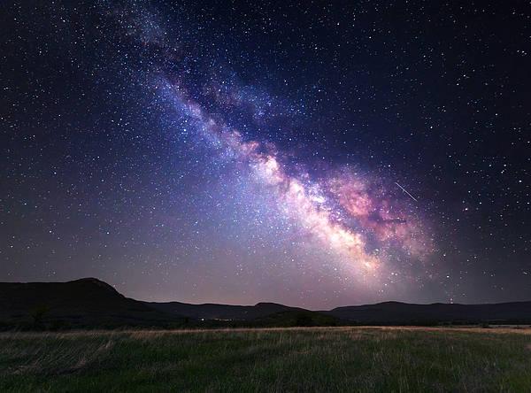 Wall Art - Photograph - Landscape With Milky Way. Night Sky by Denis Belitsky