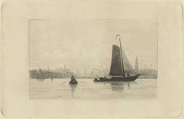 Wall Art - Painting - View Of The Port Of Amsterdam, Johan Conrad Greive, 1847 - 1891 by Johan Conrad Greive