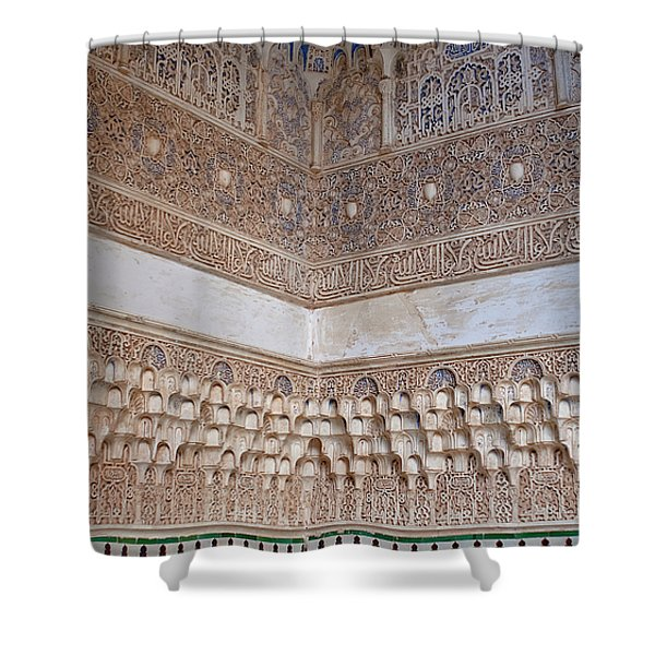 Shower Curtain featuring the photograph Colorful Carved Corner by Lorraine Devon Wilke