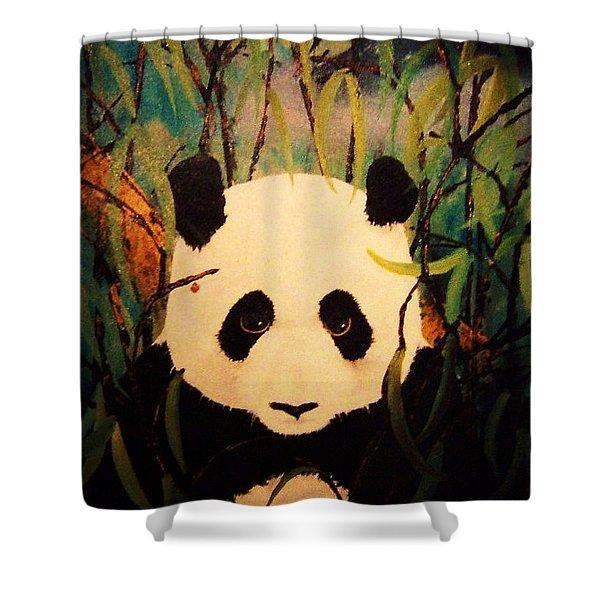 Endangered Panda Shower Curtain