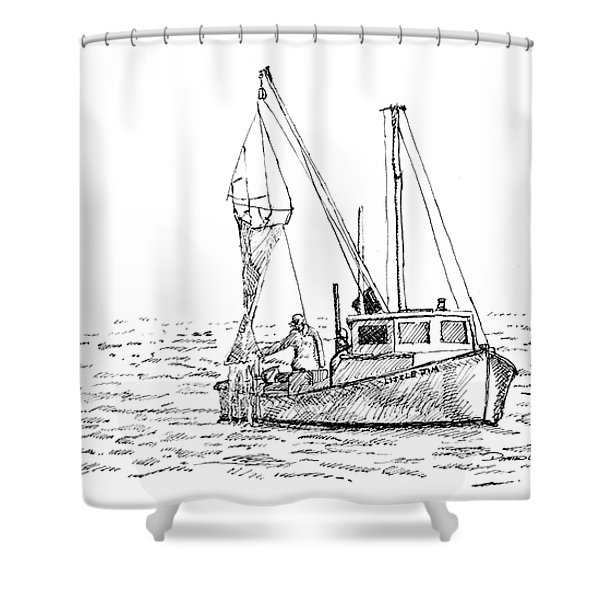 The Vessel Little Jim Shower Curtain