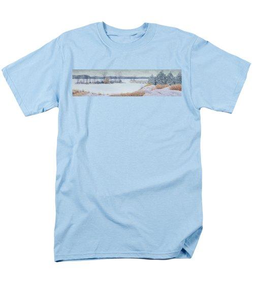 Winter Lake And Cedars Men's T-Shirt  (Regular Fit) by Garry McMichael