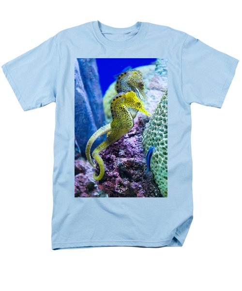 Colorful Seahorses Men's T-Shirt  (Regular Fit) by Jim And Emily Bush