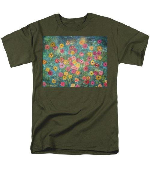 A Field Of Flowers Men's T-Shirt  (Regular Fit) by John Keaton