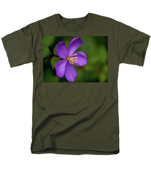 Purple Flower Macro Men's T-Shirt  (Regular Fit) by Dan McManus