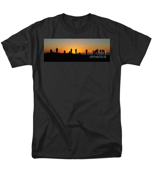 Men's T-Shirt  (Regular Fit) featuring the photograph Panorama Everyone Likes A Sunset by Vivian Christopher