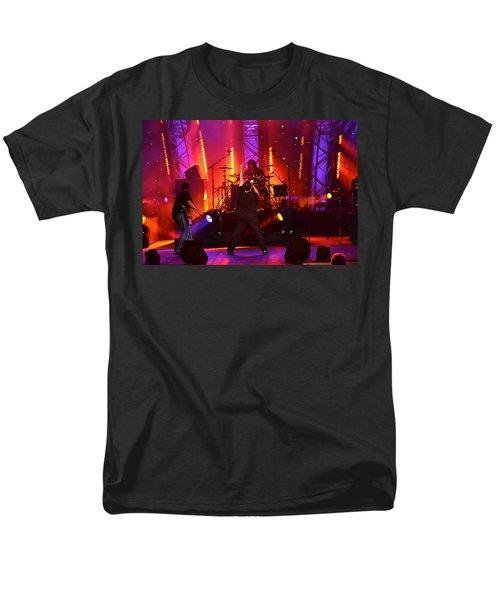 Men's T-Shirt  (Regular Fit) featuring the photograph 2u A Tribute To U2 by Carol  Bradley