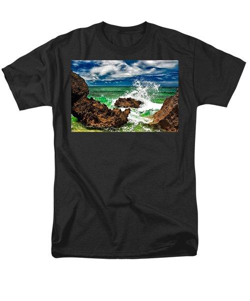 Blue Meets Green Men's T-Shirt  (Regular Fit) by Christopher Holmes