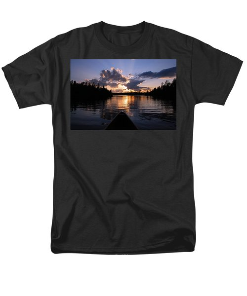 Evening Paddle On Spoon Lake Men's T-Shirt  (Regular Fit) by Larry Ricker