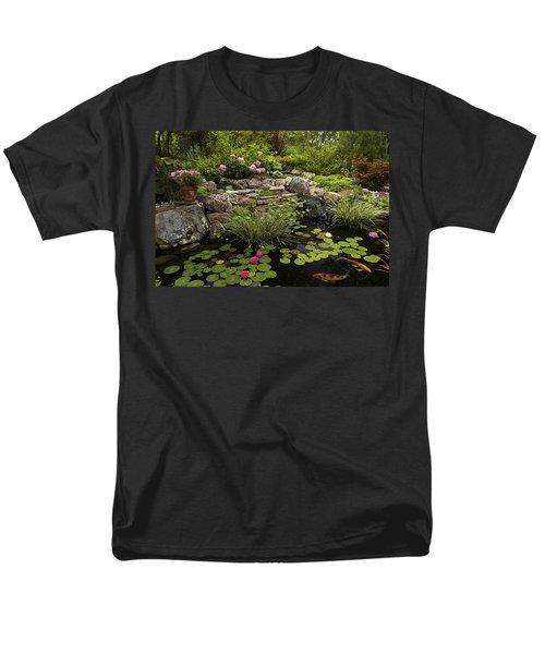 Garden Pond - D001133 Men's T-Shirt  (Regular Fit) by Daniel Dempster