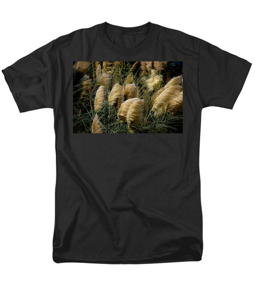 Golden Pampas In The Wind Men's T-Shirt  (Regular Fit) by DigiArt Diaries by Vicky B Fuller