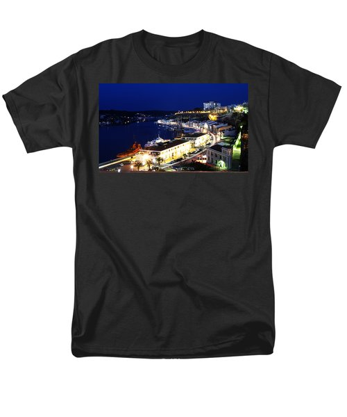 Men's T-Shirt  (Regular Fit) featuring the photograph Mahon Harbour At Night by Pedro Cardona
