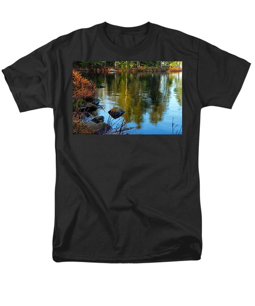 Morning Reflections On Chad Lake Men's T-Shirt  (Regular Fit) by Larry Ricker