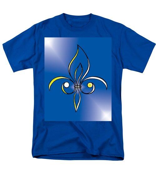 Fleur De Lis In Gold Men's T-Shirt  (Regular Fit) by Alycia Christine