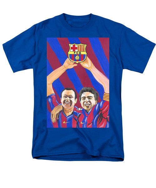 Xavi And Iniesta Men's T-Shirt  (Regular Fit) by Emmanuel Baliyanga