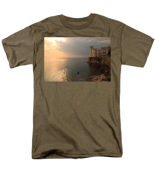Miramare Sunset Men's T-Shirt  (Regular Fit) by Ian Middleton