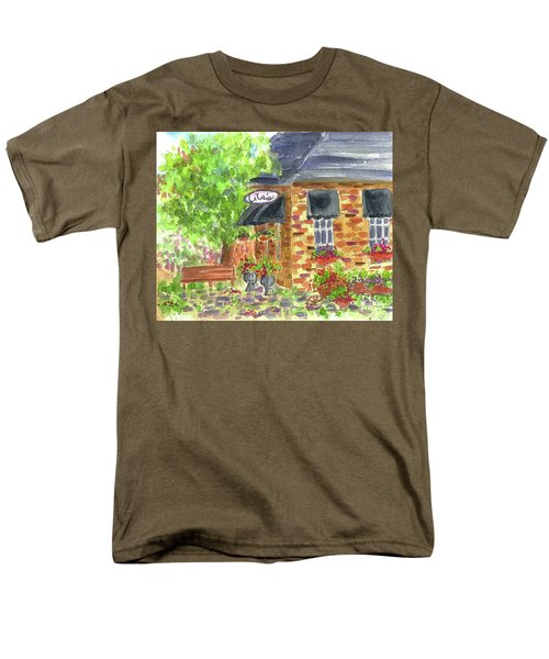 Men's T-Shirt  (Regular Fit) featuring the painting Lila's Cafe by Cathie Richardson