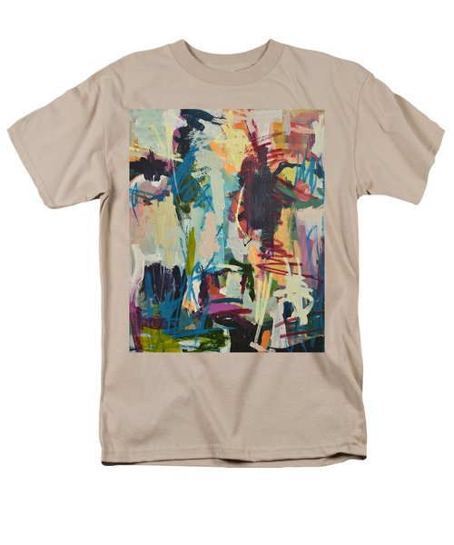 Modern Abstract Cow Painting Men's T-Shirt  (Regular Fit) by Robert Joyner