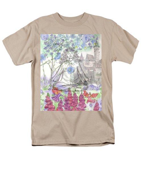Men's T-Shirt  (Regular Fit) featuring the painting Celestial Castle by Cathie Richardson