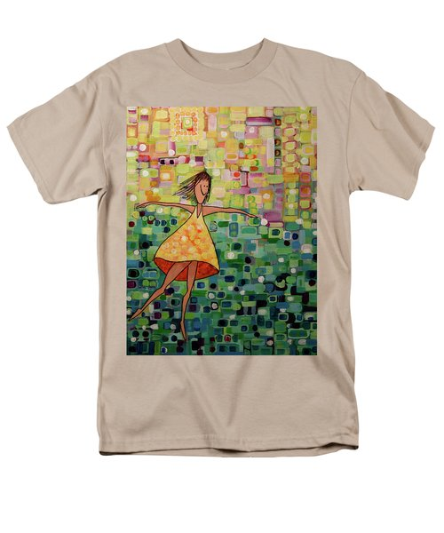 Men's T-Shirt  (Regular Fit) featuring the painting Spinning by Donna Howard