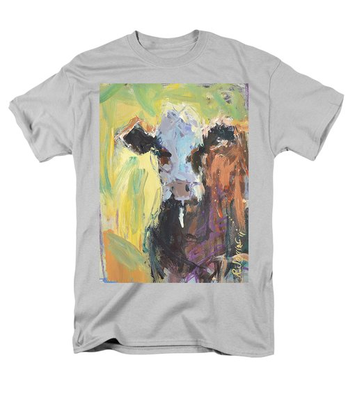 Men's T-Shirt  (Regular Fit) featuring the painting Expressive Cow Artwork by Robert Joyner