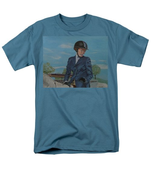 Horseshow Day Men's T-Shirt  (Regular Fit) by Patricia Barmatz