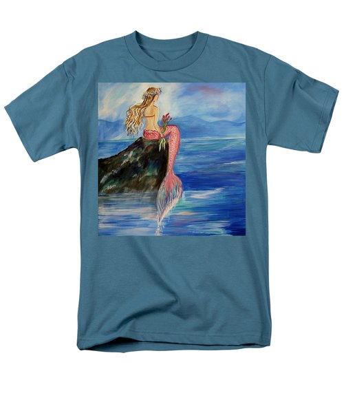 Mermaid Wishes Men's T-Shirt  (Regular Fit) by Leslie Allen