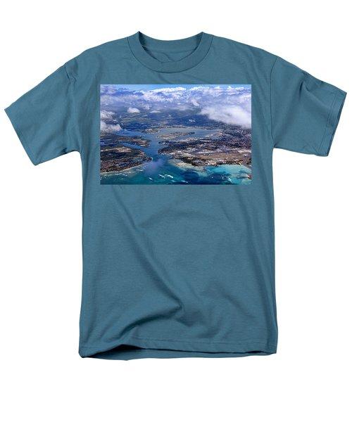 Pearl Harbor Aerial View Men's T-Shirt  (Regular Fit) by Dan McManus