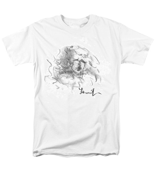 Men's T-Shirt  (Regular Fit) featuring the drawing Question Of The Heart by Laurie L