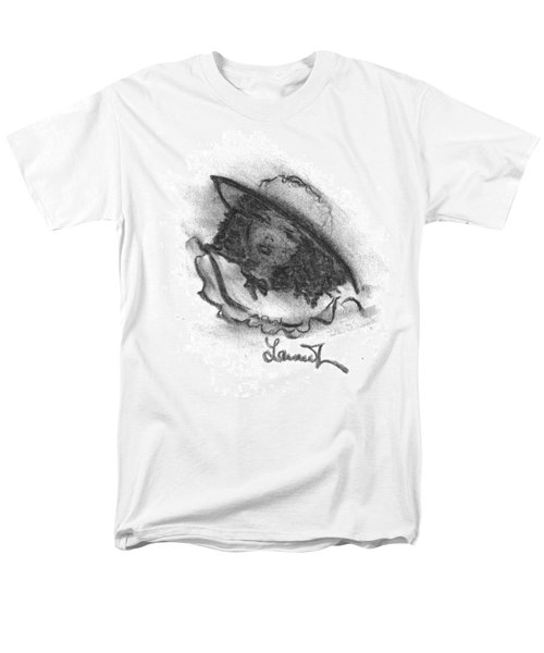 Men's T-Shirt  (Regular Fit) featuring the drawing Shades Of Sunday by Laurie L