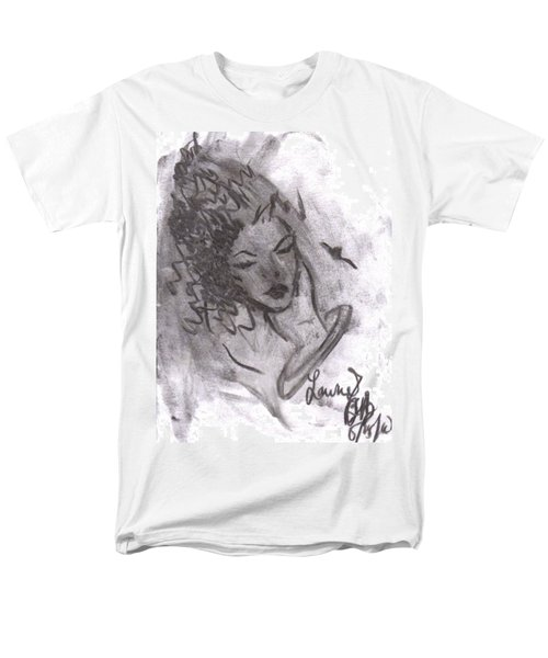 Men's T-Shirt  (Regular Fit) featuring the drawing Story Of My Heart by Laurie L