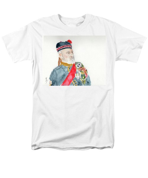 Men's T-Shirt  (Regular Fit) featuring the painting A Scottish Soldier by Yoshiko Mishina